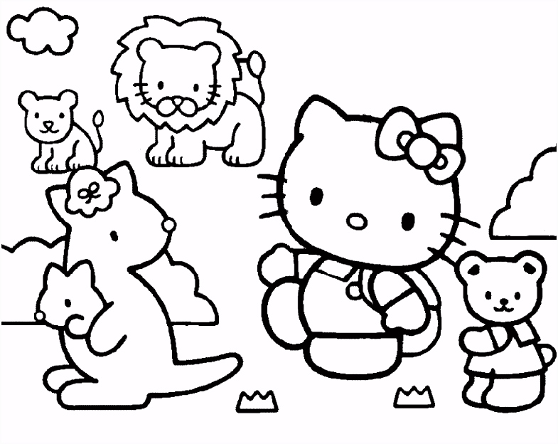 hello kitty — vind en print bliksemsnel een kleurplaat — ukko