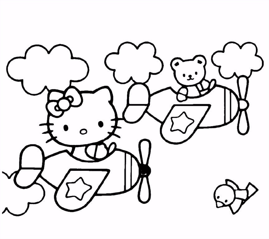 Mooie Hello Kitty kleurplaten