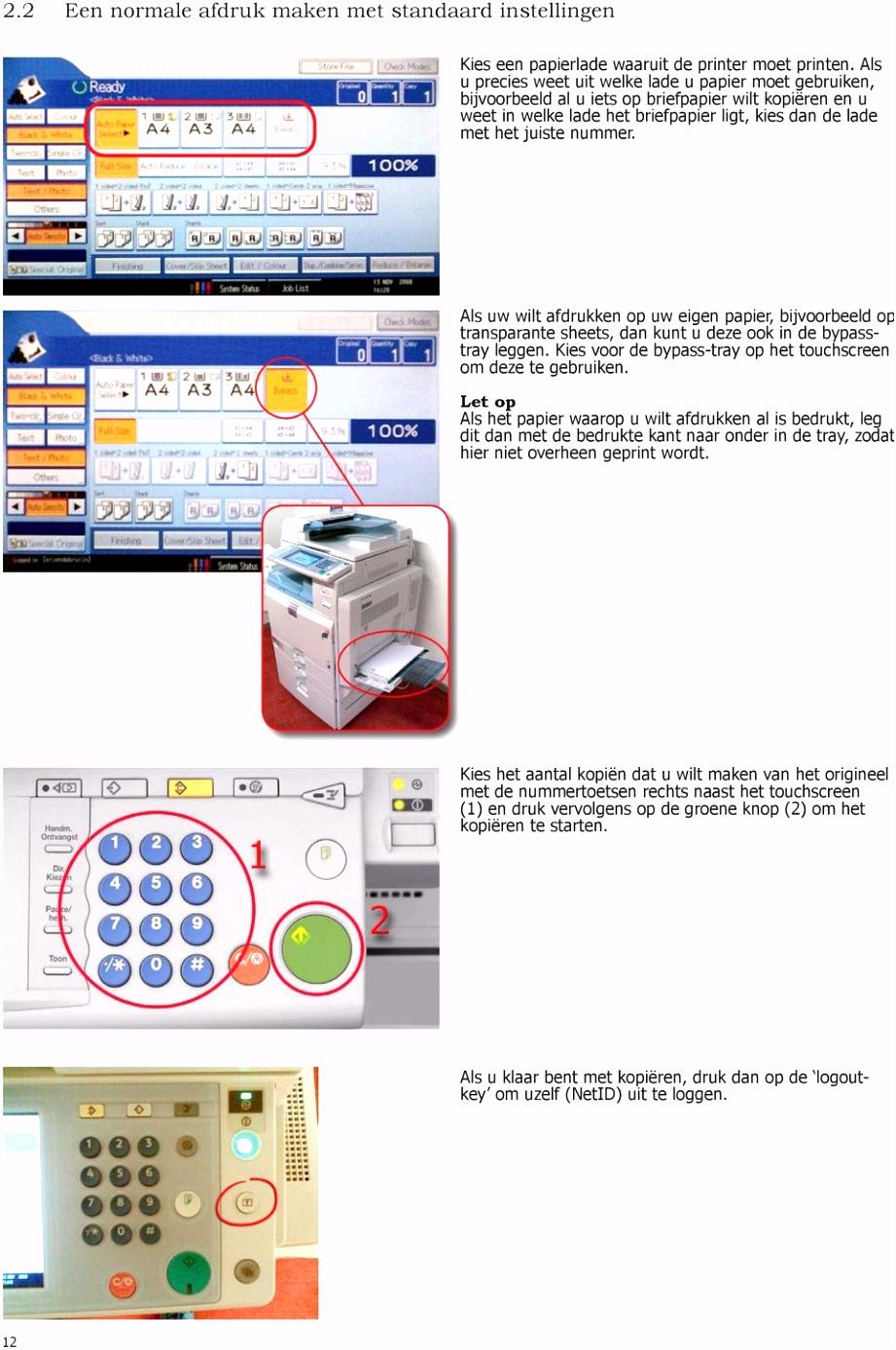 Windows XP SP 3 Handleiding printer Ricoh MP C2500 Bestemd voor