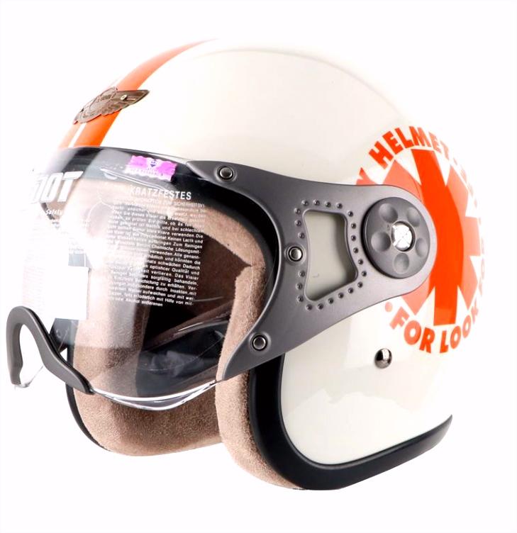 ᗖGratis verzending motorhelm vintage jet retro helm motorbike