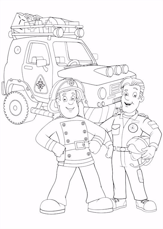Brandweerman Sam Kleurplaten voor kinderen Kleurplaat en afdrukken