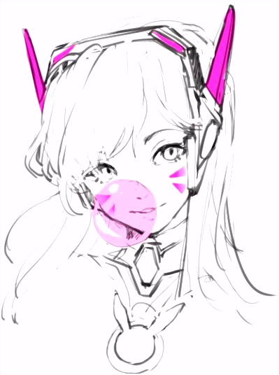 28 Collection of Dva Drawing Overwatch