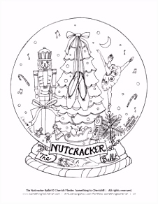Snow Globe Coloring Page CHRISTMAS Pinterest
