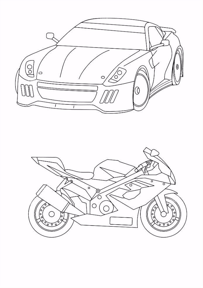 Motorfiets Kleurplaten Auto S Kleurplaten Motorfiets – wakashiragafo