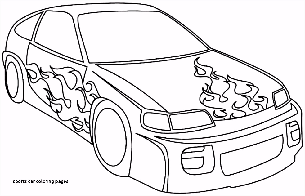 23 Sports Car Coloring Pages