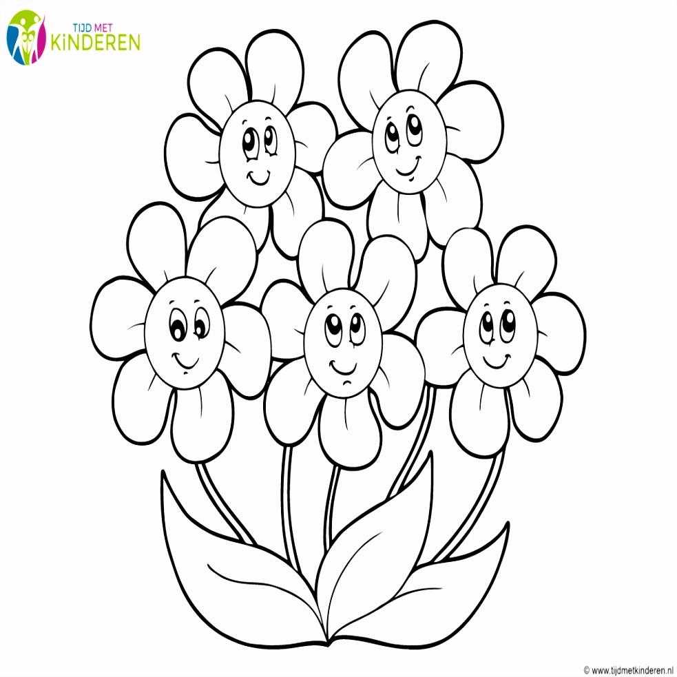 Bloemen Kleurplaten Uniek Kleurplaat Bloemen 26 Superleuke Gratis