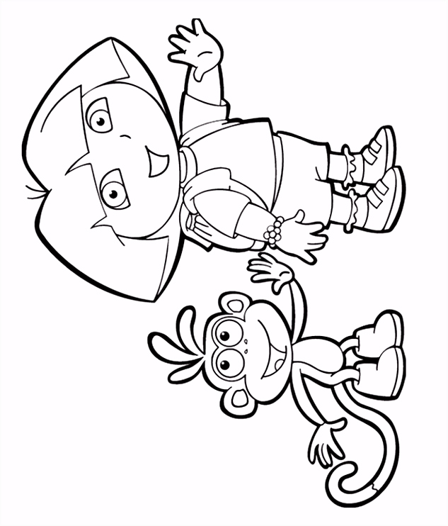 Dora And Boots Coloring Pages Kleurplaat Num Noms Idee n Over