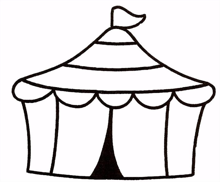 circustent kleurplaat Google zoeken circus Pinterest