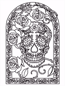 154 best Coloring pages to print Skulls images on Pinterest