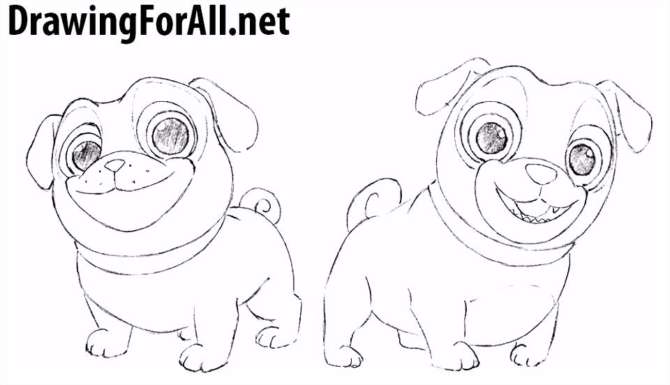 How to Draw Puppy Dog Pals Birthday Pinterest
