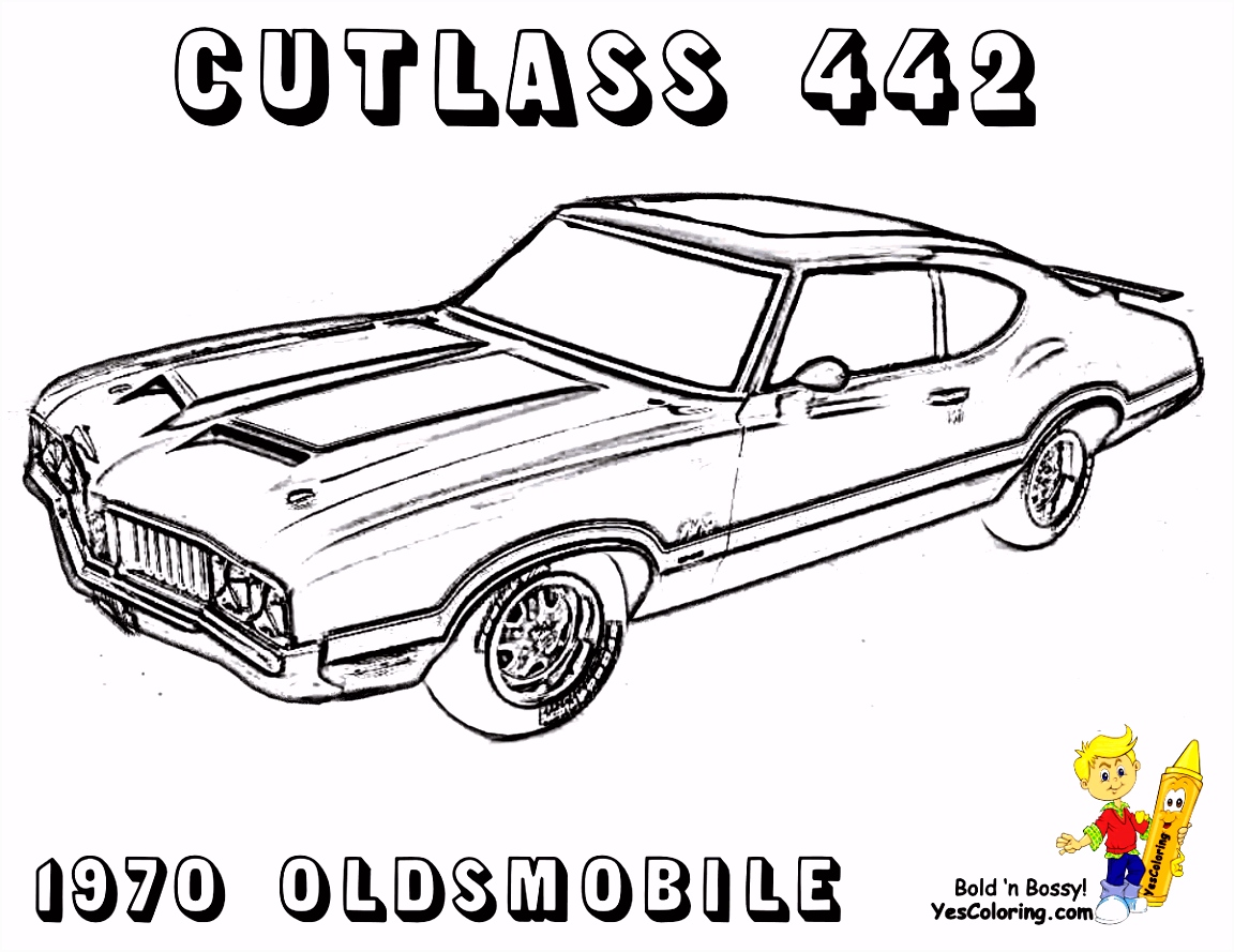 Luxury Muscle Car Coloring Pages 57 With Additional Coloring Pages