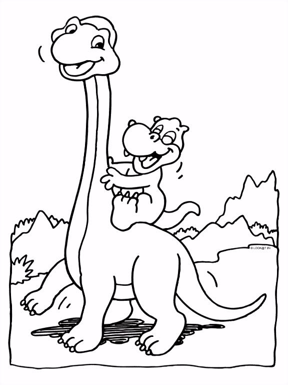 Dinosaurus Kleurplaat Verjaardag ARCHIDEV