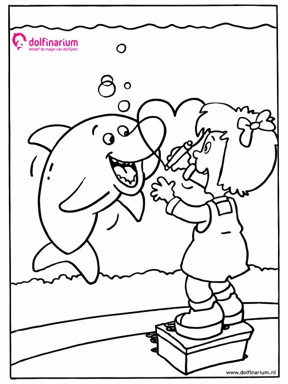 Kleurplaat Dolfinarium Animaatjes