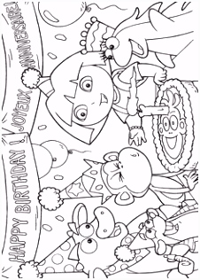167 best dora coloring pages images on Pinterest