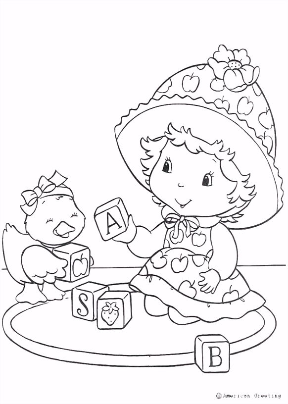 Thanksgiving Kleurplaten Strawberry Shortcake Coloring Pages