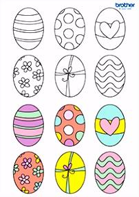 Gratis Pasen kleurplaat 8 afdrukken