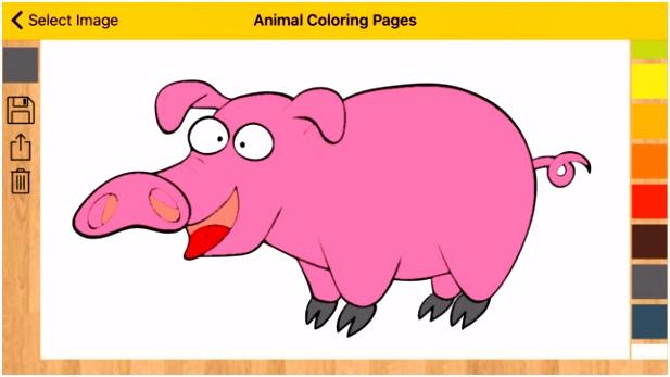 r kleurplaten kleurboek met ren in de App Store