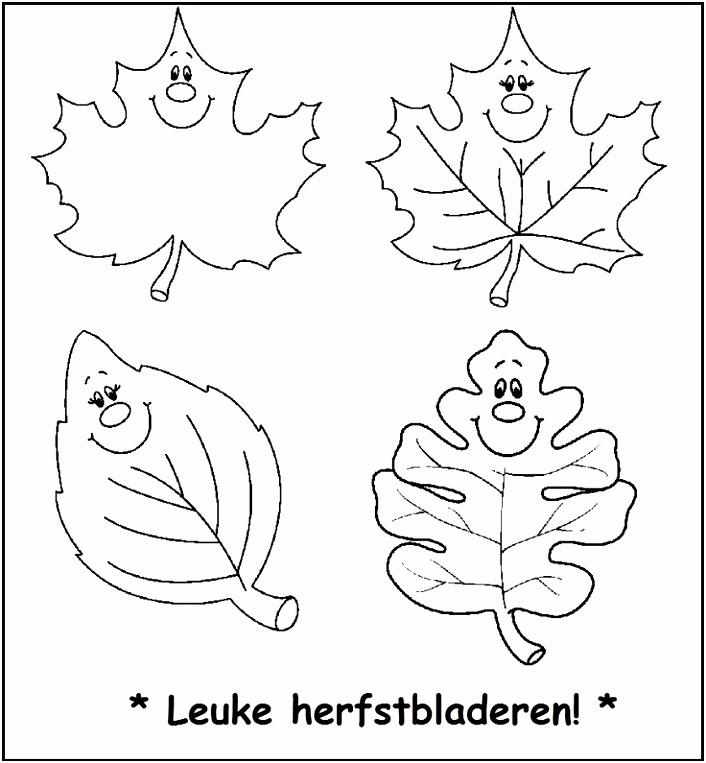 Populair Kleurplaten Herfst Najaar YK94