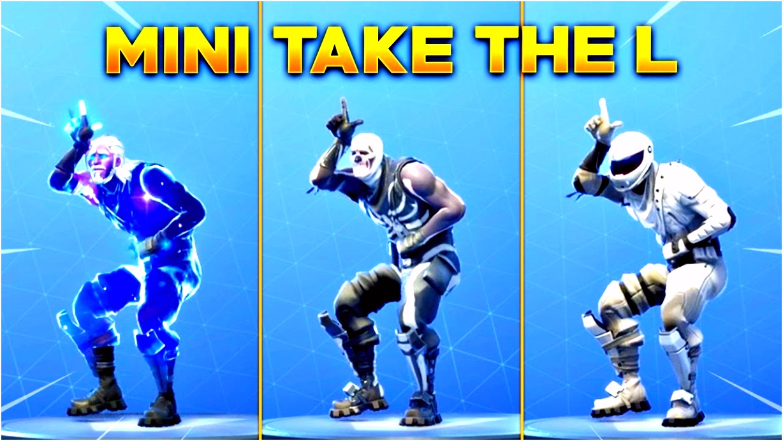 NEW MINI TAKE THE L EMOTE All New Fortnite Skins & With All Popular Fortnite Skins