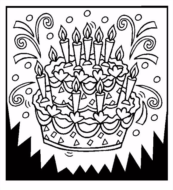 Afbeeldingsresultaat voor kleurplaat verjaardag