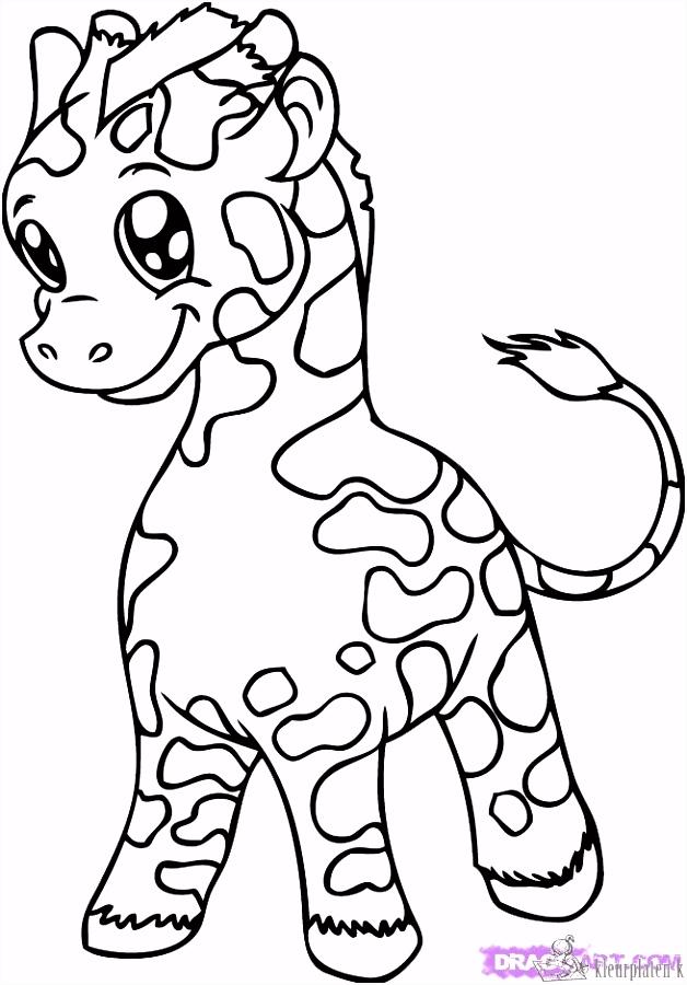 Kleurplaat Giraffe ARCHIDEV