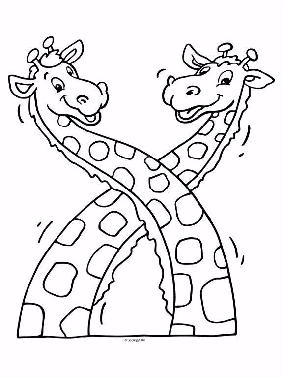 Kleurplaten Voor Volwassenen Giraf ARCHIDEV