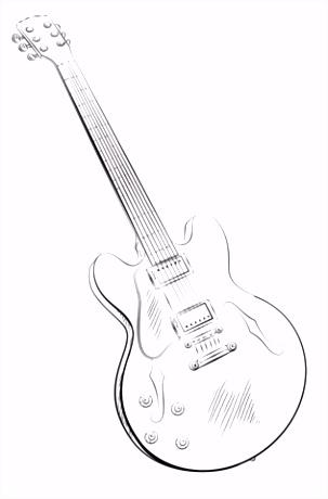 8 kleurplaat gitaar sletemplatex1234