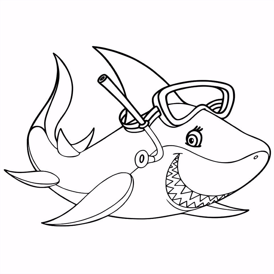 Leuk voor kids – Een haai met een duikbril