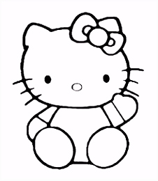 377 best HELLO KITTY COLOR PAGES images on Pinterest