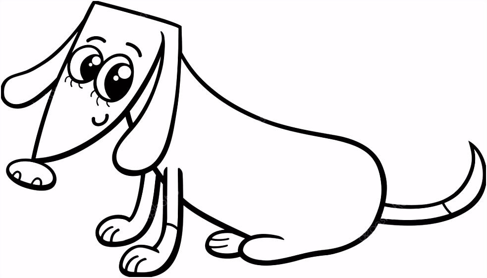 vrouwelijke hond kleurplaat — Stockvector © izakowski