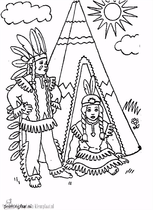 Kleurplaten indianen