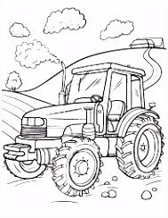 Afbeeldingsresultaat voor kleurplaat tractor ferguson