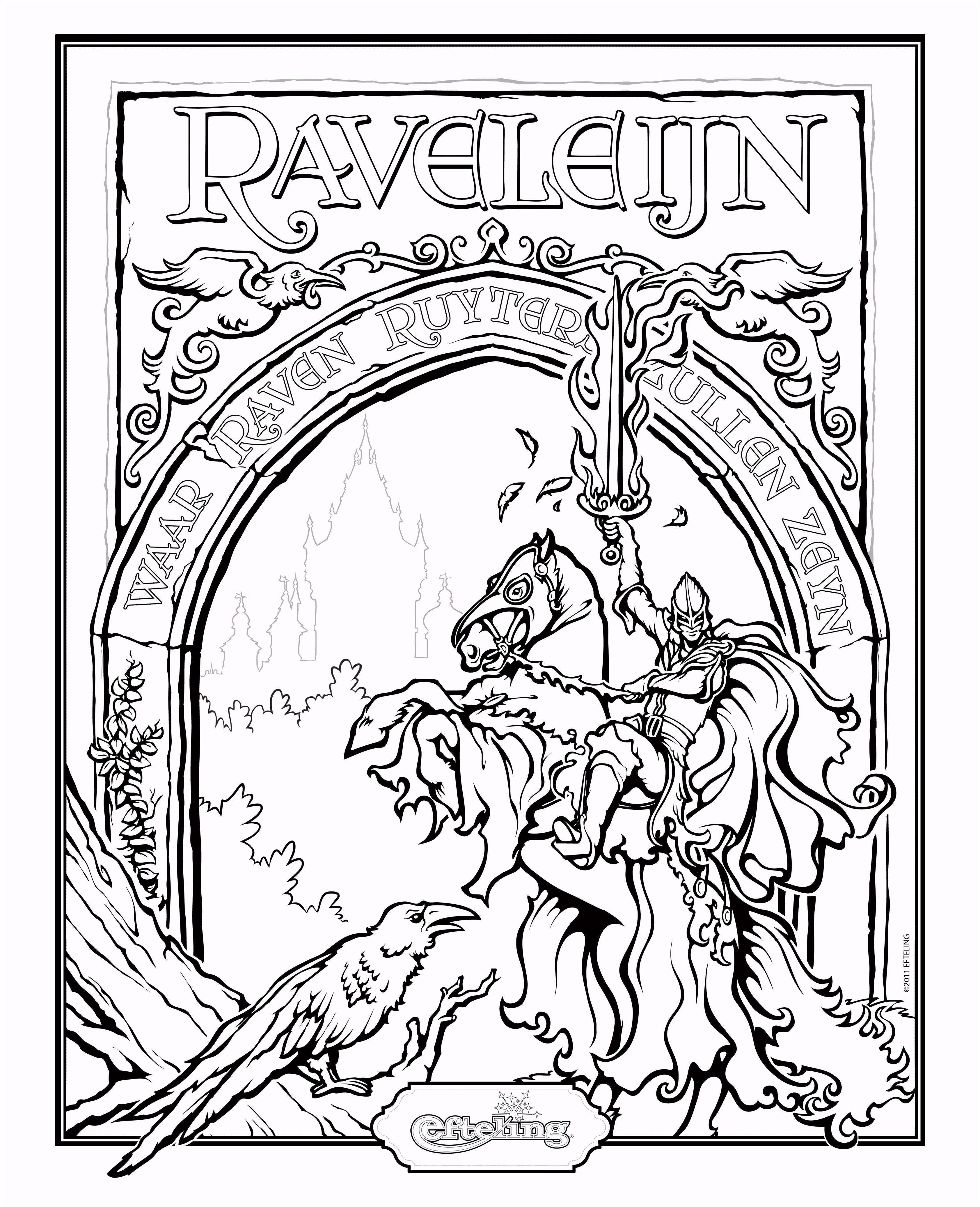 Efteling kleurplaat Raveleijn coloring Pinterest