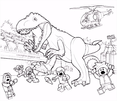 Printable LEGO Jurassic World Coloring Sheets