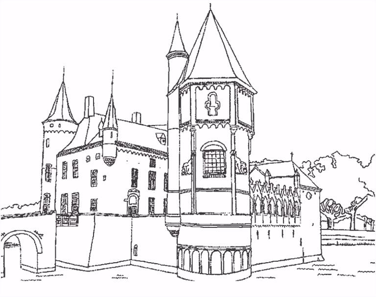 Kasteel Kleurplaten Eenvoudig Lali Pi±eiro Castilla Castillos Para