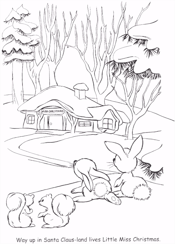 """from """"Little Miss Christmas and Santa"""" coloring book"""