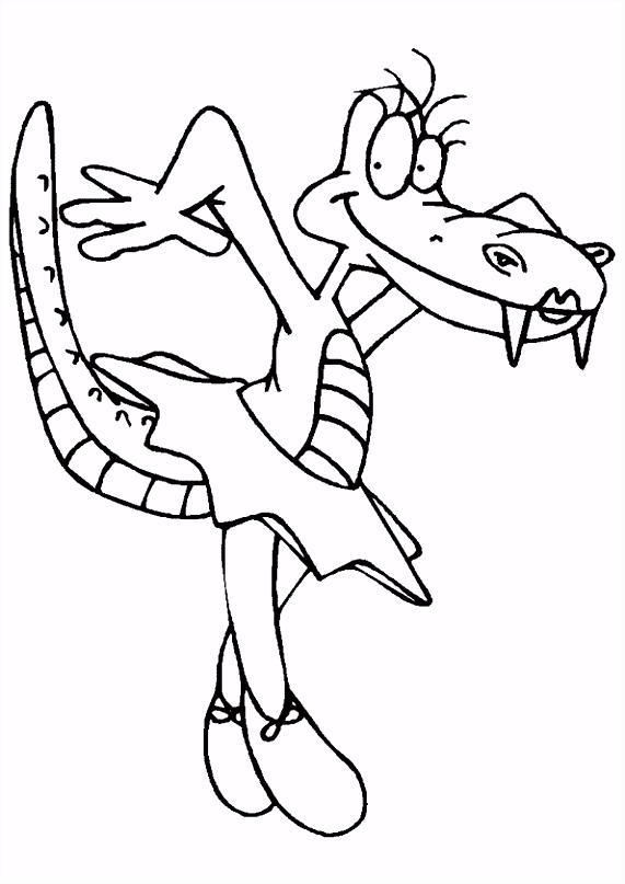 Kleurplaat Krokodillen 6928