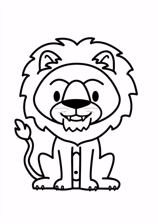 Kleurplaat leeuw Afb