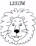 Kleurplaten leeuw Axenroos