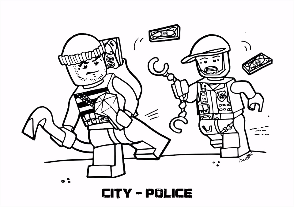 Inspirational Police Coloring Pages