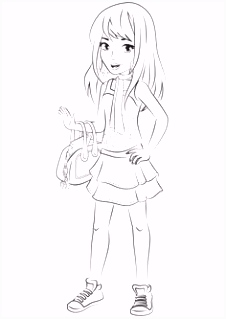 emma from lego friends colouring pages Party Time