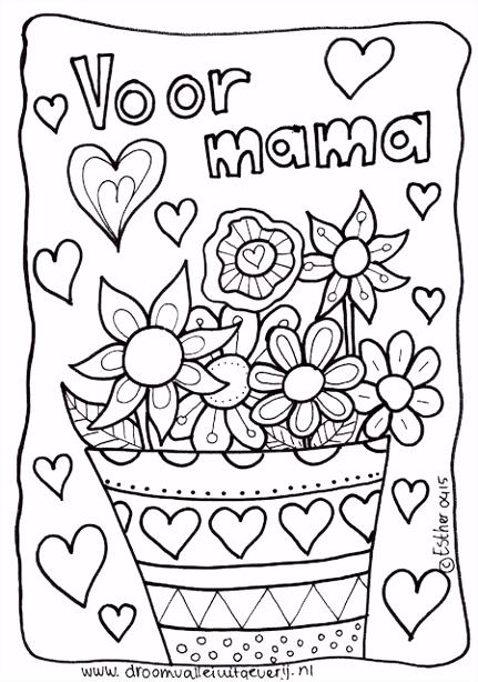 5 Kleurplaat Mama Jarig Sampletemplatex1234