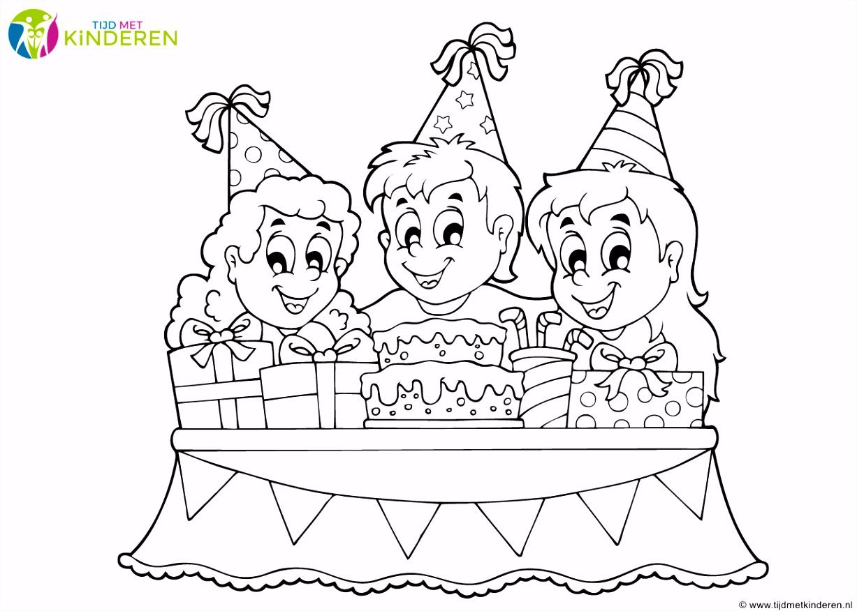 Super Kleurplaat Verjaardag Juf YM73