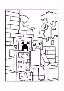 A Minecraft Enderman coloring page Värityskuvia