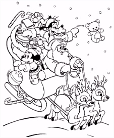 DISNEY COLORING PAGES MICKEY MOUSE AS SANTA CHRISTMAS COLORING PAGE