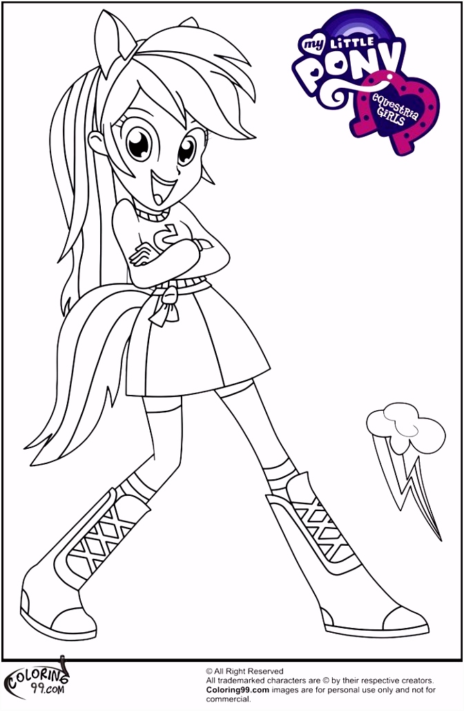 My Little Pony Equestria Girl Coloring Pages Eco Coloring Page