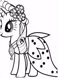 My Little Pony Kleurplaat Prinses Celestia ARCHIDEV