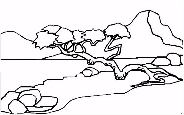 Kleurplaat Landschap Volwassenen ARCHIDEV