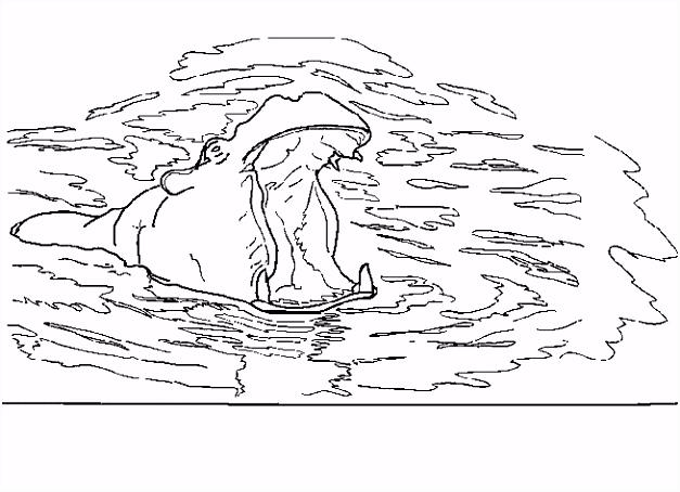 ▷ Kleurplaten Nijlpaarden Bewegende Afbeeldingen Gifs & Animaties