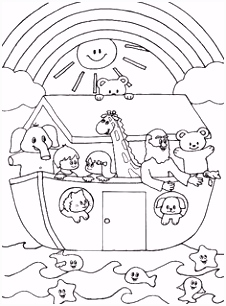 Cute Noah s Ark coloring page other pages